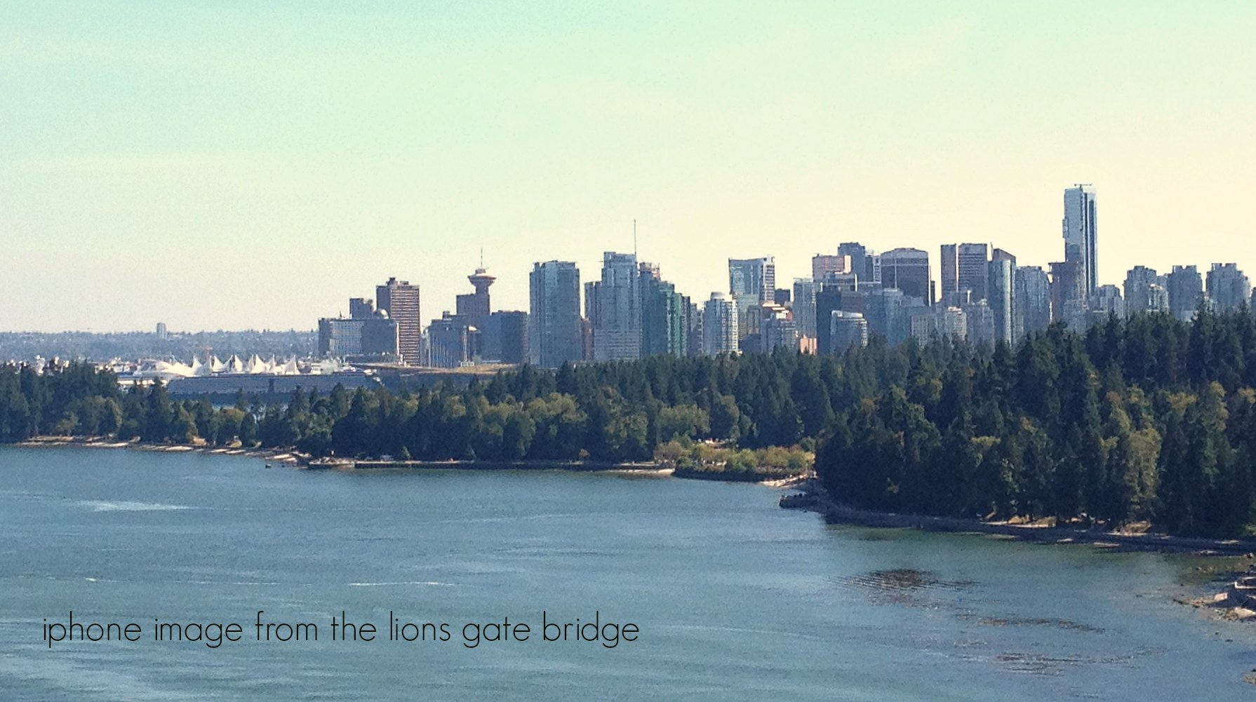 Vancouver Skyline from Lions Gate Bridge